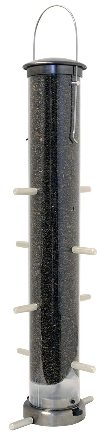 Large Aspects 398 Quick-Clean Thistle Tube Feeder Brushed Nickel