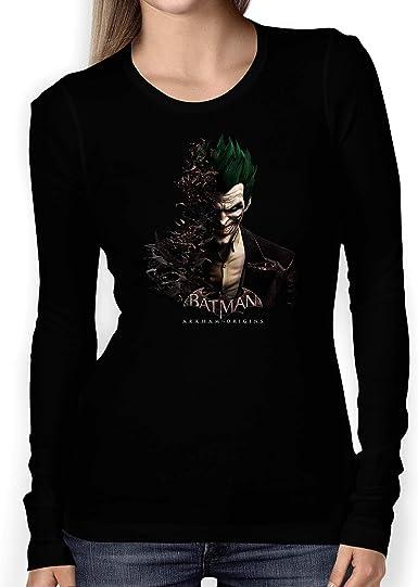 T-SHIRT Batman Joker 1 Camiseta MOJER/Women Coche/Clipart Car Auto tee Top Negro Manga Corta Larga Presente: Amazon.es: Ropa y accesorios