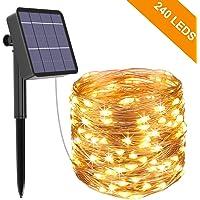 Guirnalda Luces Exterior Solar, Kolpop Cadena de Luces