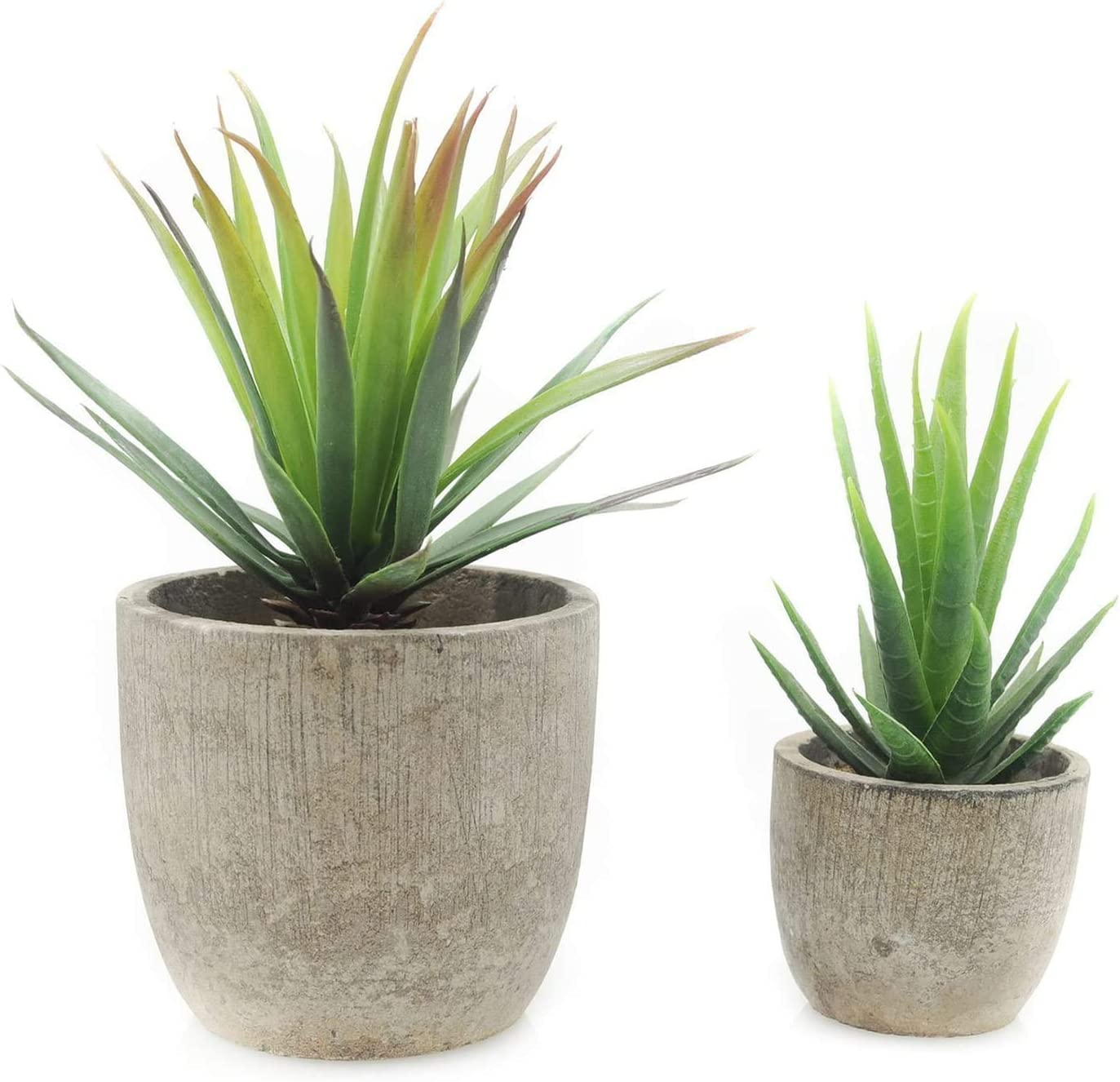 Amazon Com Velener Mini Home Decoration Artificial Plants Aloe With Pots Set Of 2 Furniture Decor