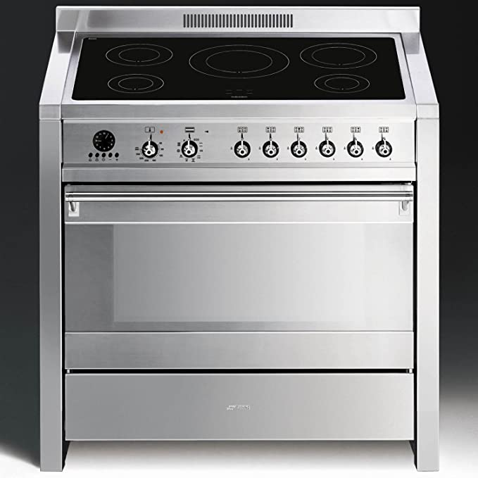 Smeg A1PYID-7 - Cocina (Cocina independiente, Plata, Giratorio, Frente, Electrónico, Con placa de inducción): Amazon.es: Grandes electrodomésticos