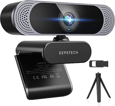 4K Webcam, 2021 DEPSTECH HD 8MP Sony Autofocus Webcam with Microphone