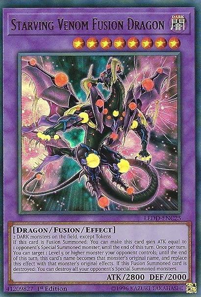 Starving Venom Fusion Dragon Ledd Enc25 Ultra Rare 1st Edition