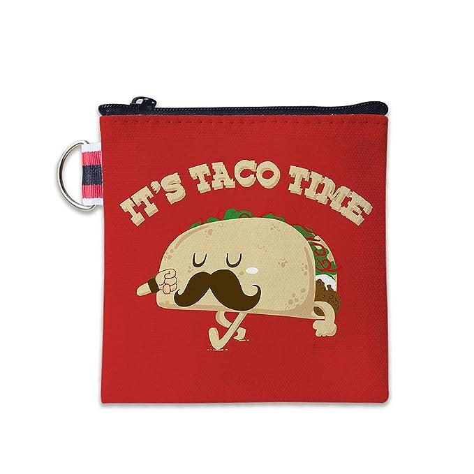 Amazon.com: Taco Time - Monedero de lona con cremallera ...
