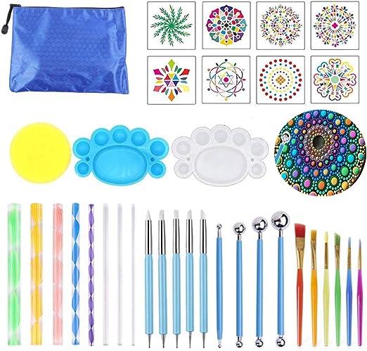 16Stk Mandala Dotting Tools Dotting Schablone Rock Punktierung Werkzeuge Set