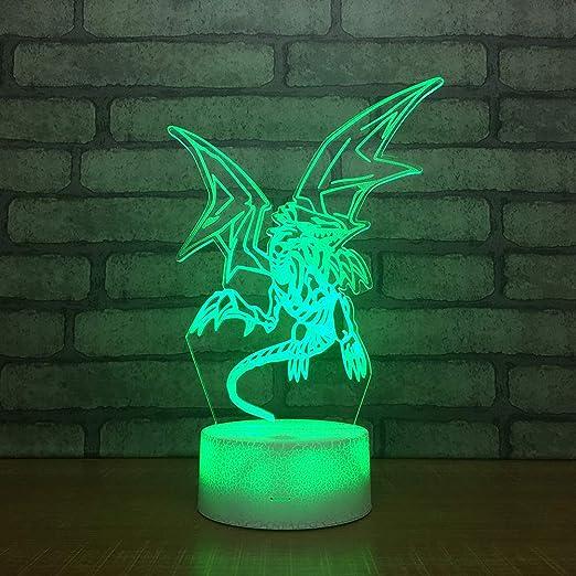 Yoppg 3D Led Luz De Noche Ilusión Óptica Lámpara De Mesa Luz ...