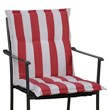 6 Cojines para sillón con Respaldo Baja 100 x 50 cm en Rojo ...