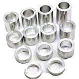 –13 Spacers Machined Finish 1.500 1-1//2″ 25mm–O.D Wheel Axle Spacer Kit I.D