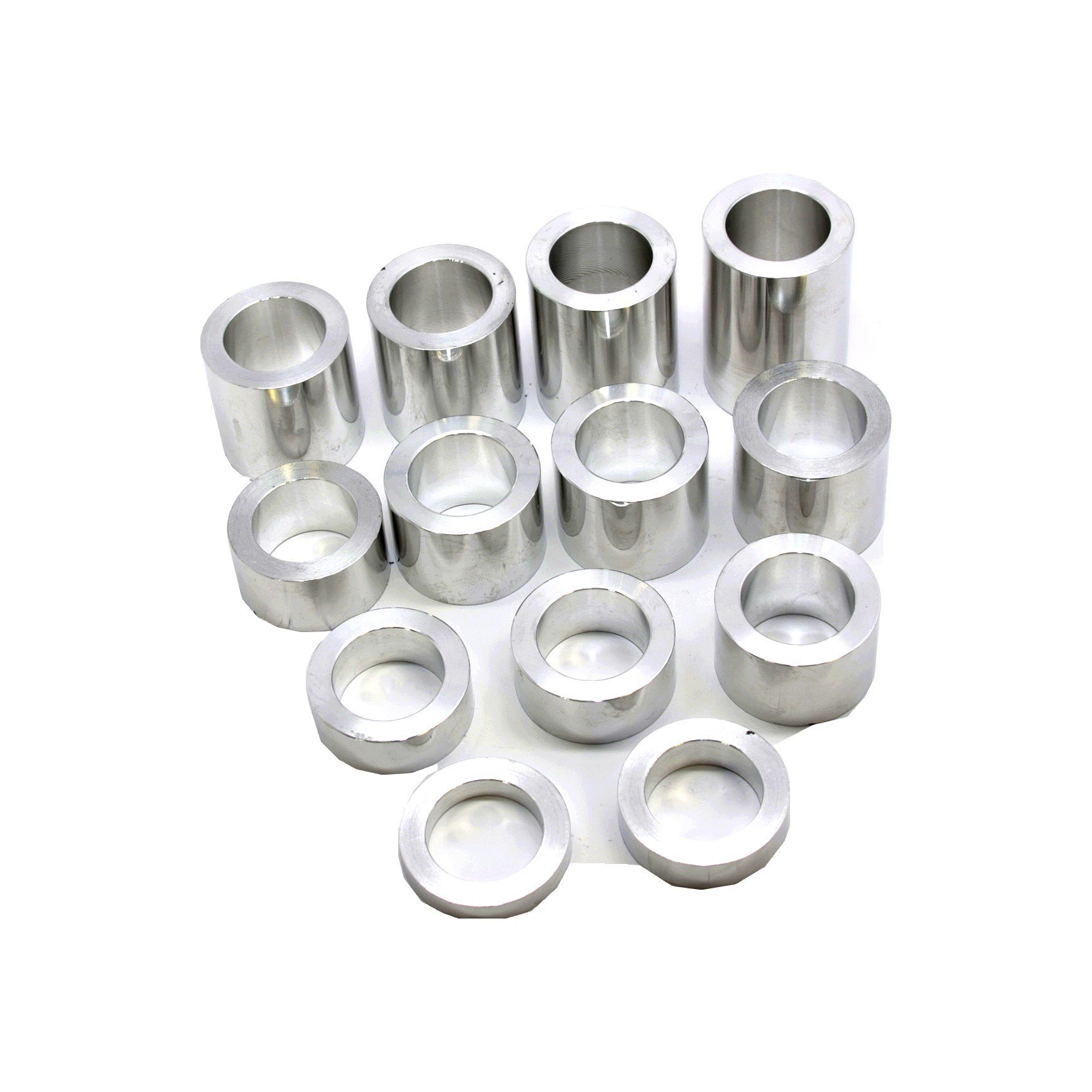 Wheel Axle Spacer Kit I.D. 25mm - O.D. 1-1/2'' (1.50) - 13 Spacers Polished