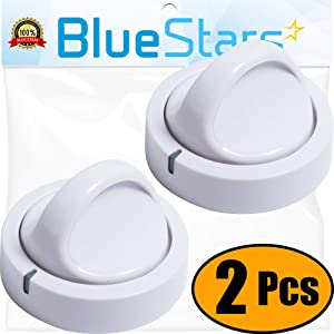 Ultra Durable 131873500 Dryer Timer Knob Replacement Part by Blue Stars – Exact Fit For Frigidaire Dryers - Replaces 134042600 PS418921 - PACK OF 2