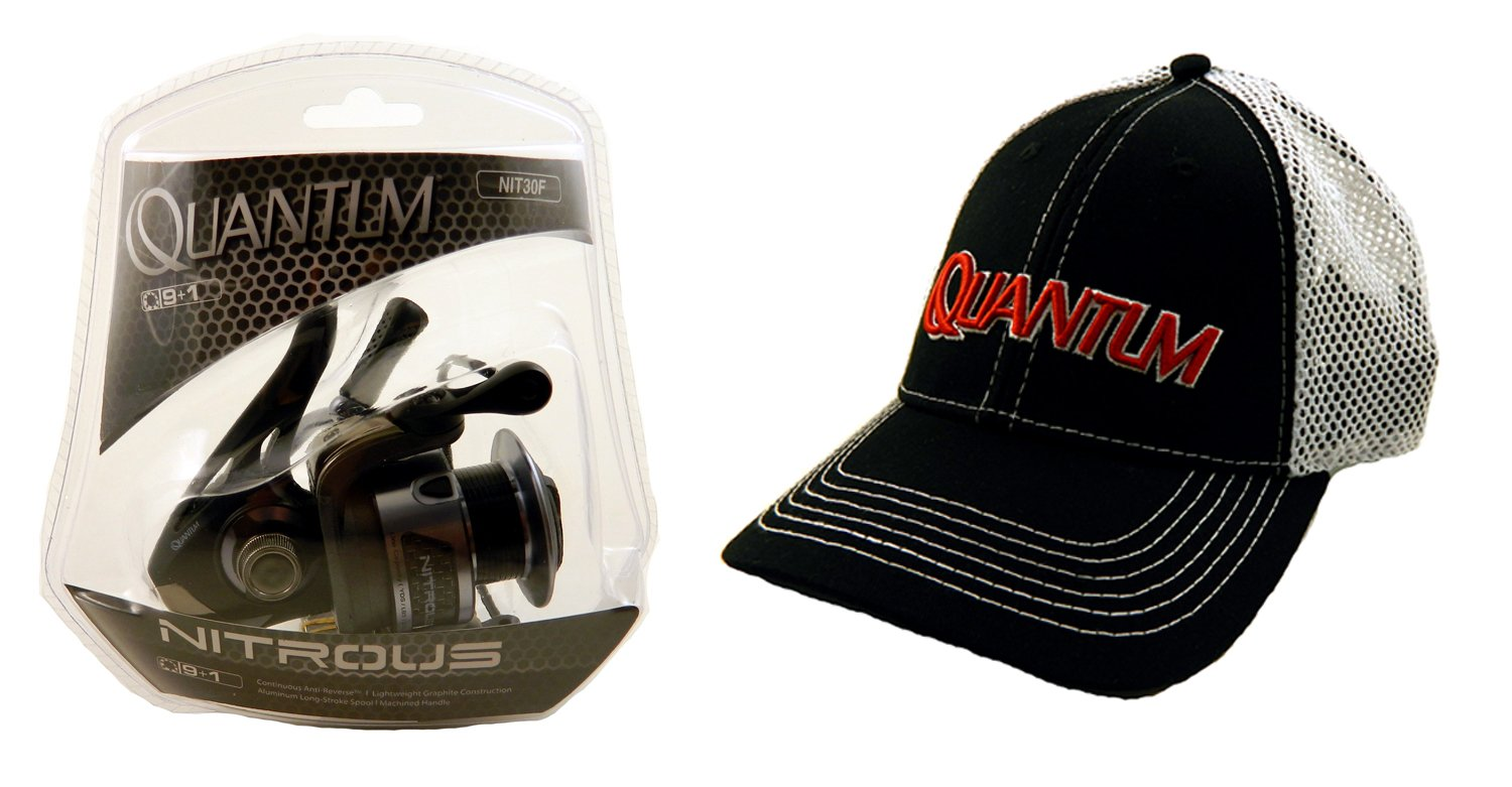 Amazon.com   Bundle - Quantum Nitrous NIT30F Spinning Fishing Reel with  Quantum Hat   Sports   Outdoors 827c4ed1dc9d
