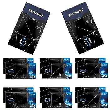 Hibote Protector de Tarjeta de crédito Mangas de Bloqueo RFID by