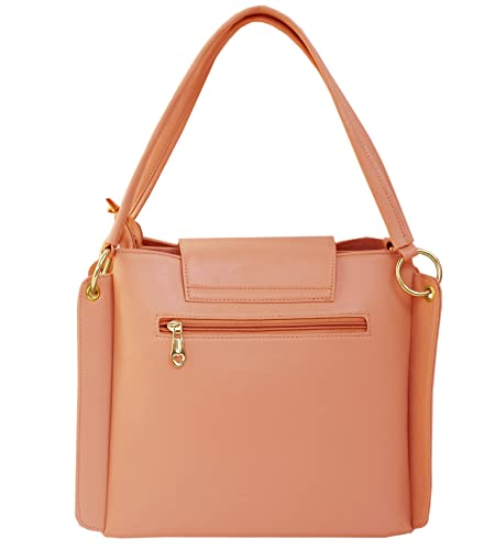 da4f8ab7a8d4 I DEFINE YOU Latest Peach Color Party Wear Handbag & Sling bag For Girls  and Women's: Amazon.in: Shoes & Handbags