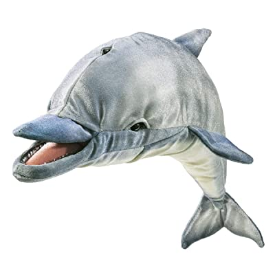 Folkmanis Whistling Dolphin Hand Puppet: Toys & Games