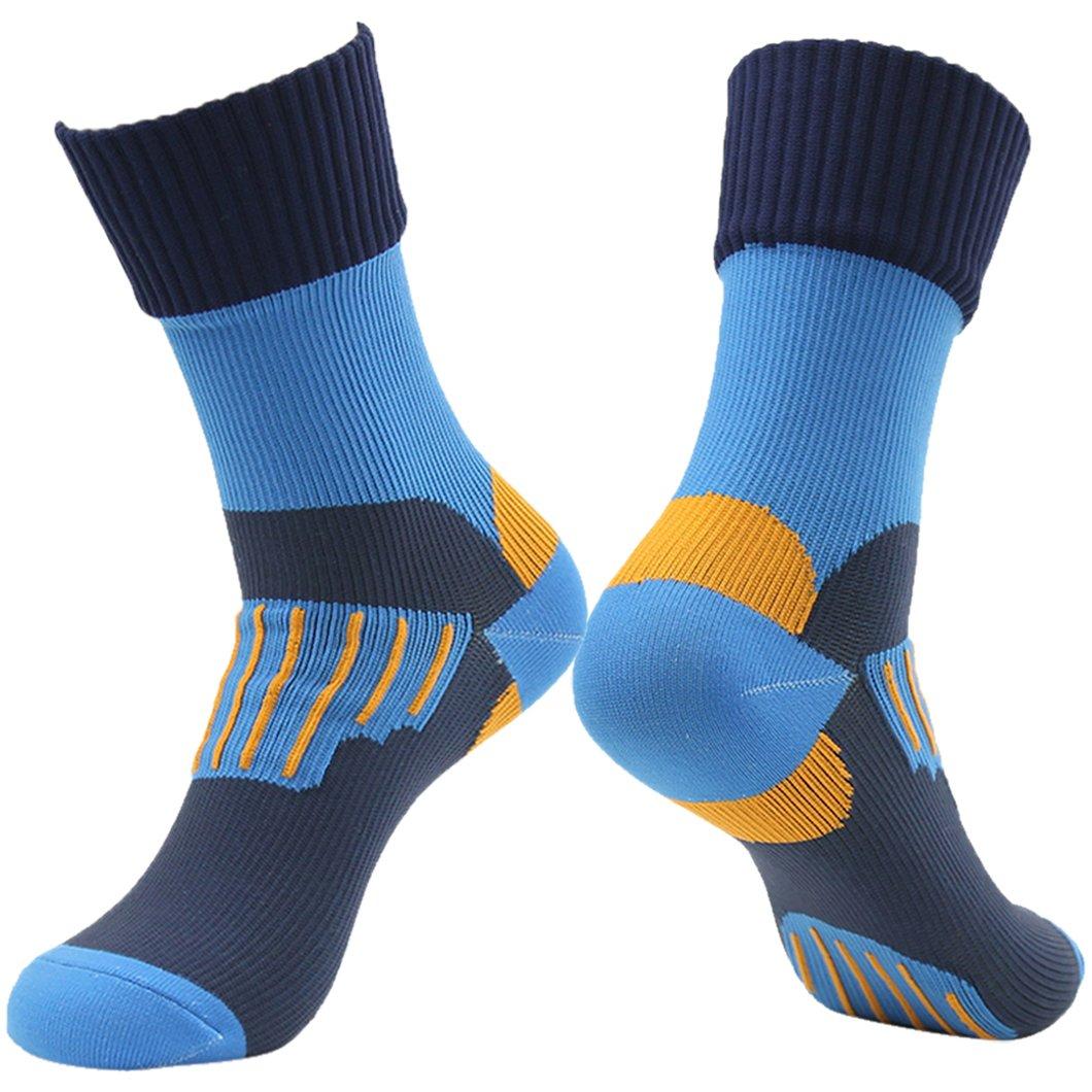 RANDY SUN Running Hiking Socks, Coolmax Men's Half Calf Sports Winter Socks Blue by RANDY SUN