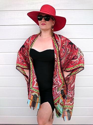 Amazon.com  Red Kimono Robe 9828d99d1