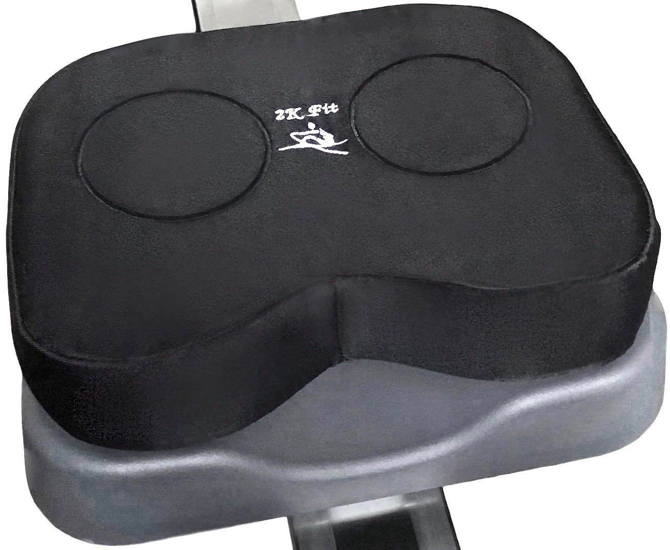Rowing Machine Seat Cushion (Model 1) That Perfectly fits Concept 2 with Thick Updated Dual Density Memory Foam and Washable Cover by 2K Fit