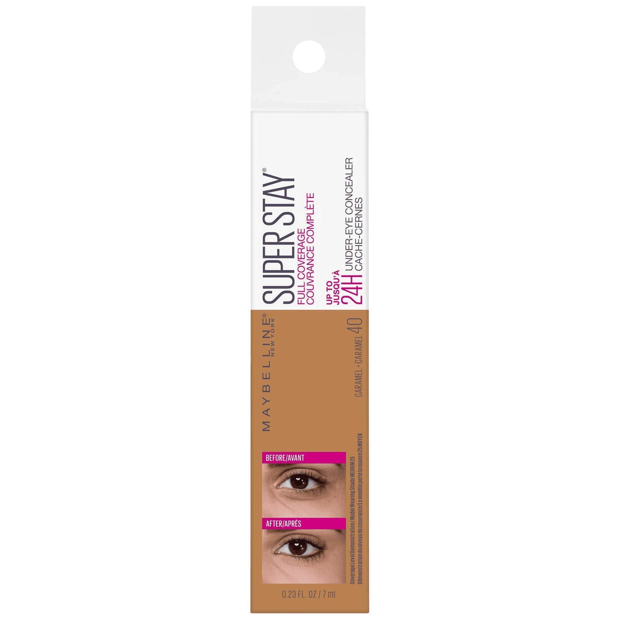 Super Stay Full Coverage Long Lasting Under-Eye Concealer, 40 Caramel, 0.23 fl oz (Pack of 2)