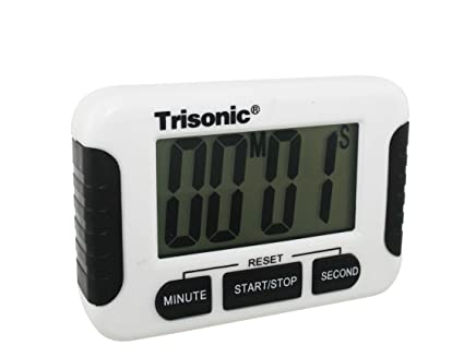 Trisonic Digital Kitchen Timer with Premium Magnetic Backing, Stand, for Cooking, Baking,