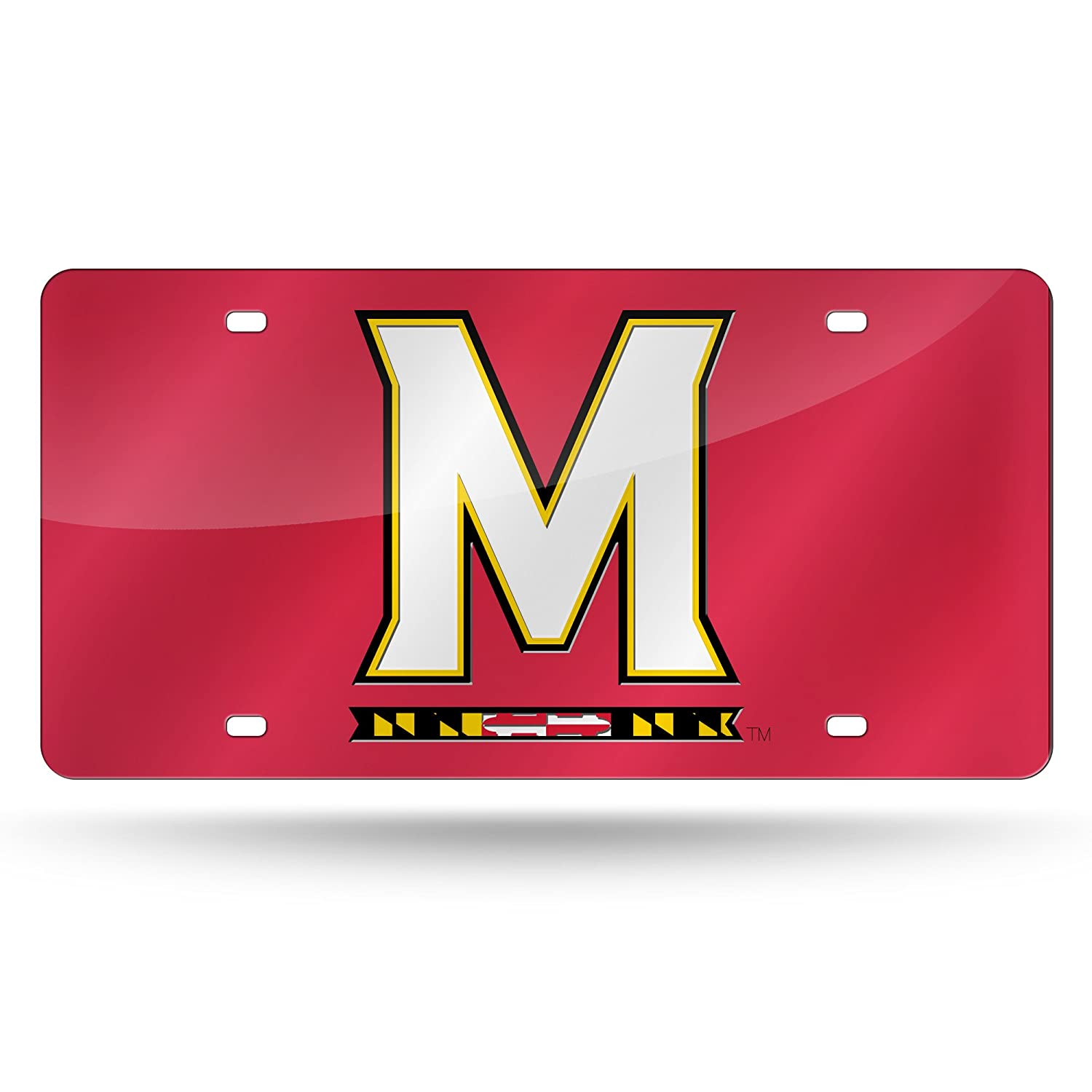 NCAA Maryland Terrapins Laser Inlaid Metal License Plate Tag Rico Industries Inc LZC320202
