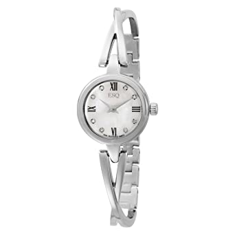 6258e83f5f9 Image Unavailable. Image not available for. Color  ESQ Movado Women s  7101319 Sienna White Diamond Bangle Bracelet Watch