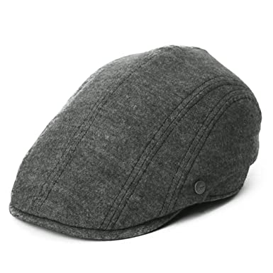 598c941289174 Siggi Mens Flat duckbill Hat newsboy Driving Cap 57-60CM Elastic Size 5  Colors - Black -  Amazon.co.uk  Clothing
