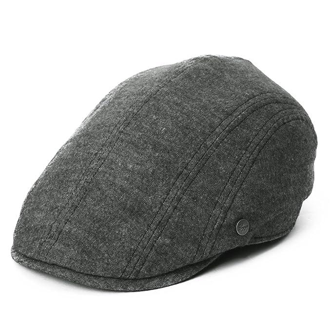 37627c2b5b750 Siggi Mens Flat DuckBill Hat English Irish Newsboy Driver Cap for Men  Stylish Black