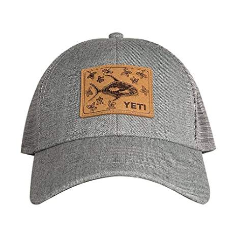 purchase cheap 49a7d 18581 Amazon.com   YETI Permit in Mangroves Patch Trucker Hat Gray   Sports    Outdoors