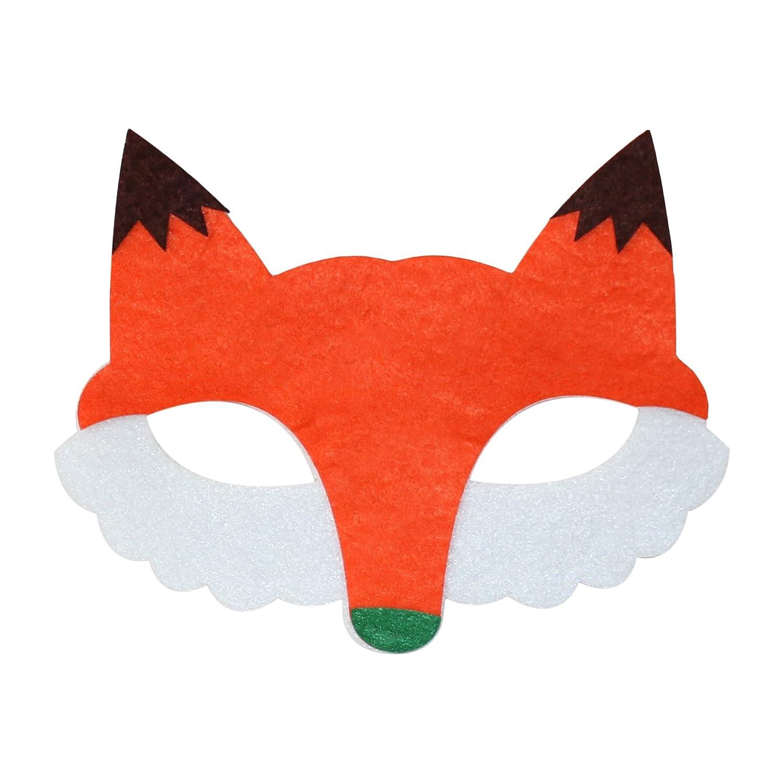 2 Pack Bear /& Fox Felt Animal Eye Masks for Kids