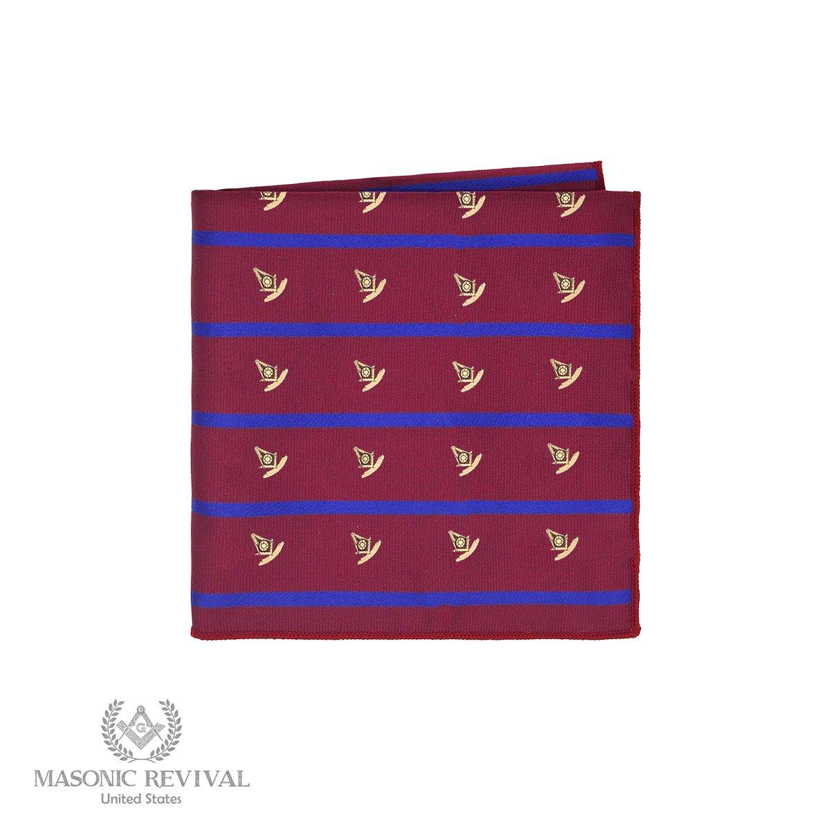 The Regal Past Master Pocket Square Handkerchief by Masonic Revival