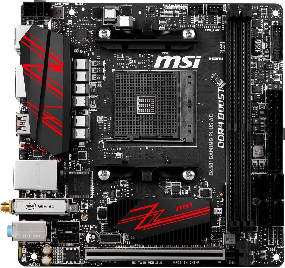gaixample.org MSI B450I GAMING PLUS AC Socket AM4 Mini-ITX ...