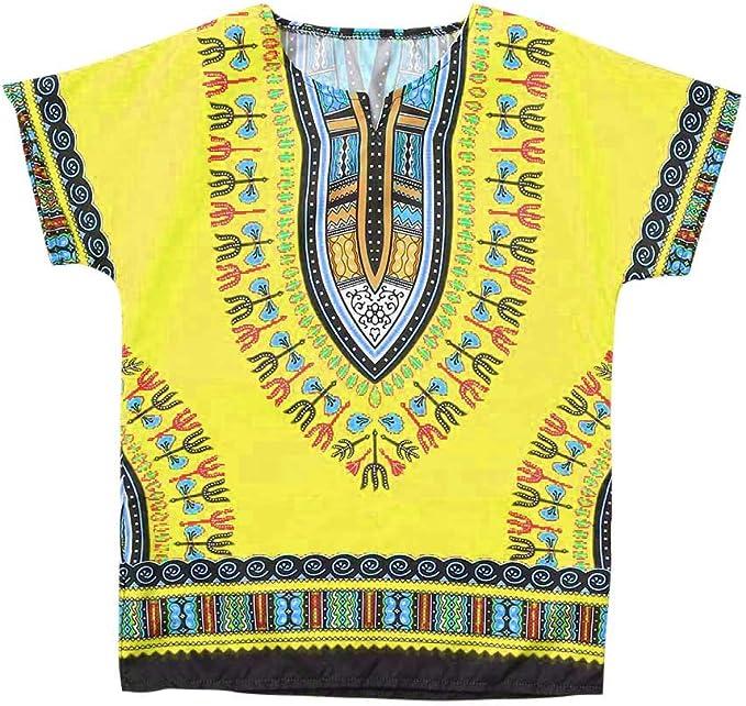 Julhold - Camiseta de algodón para niño, unisex, color africano ...
