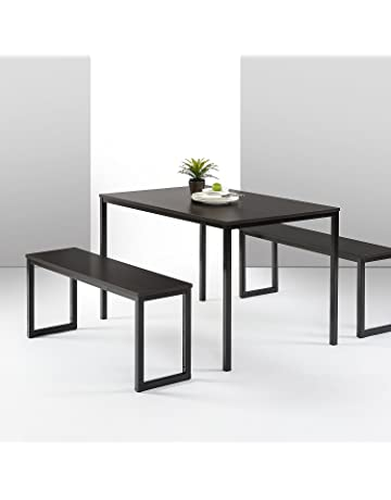 dcf36ddfd937 Zinus Louis Modern Studio Collection Soho Dining Table with Two Benches / 3 piece  set,