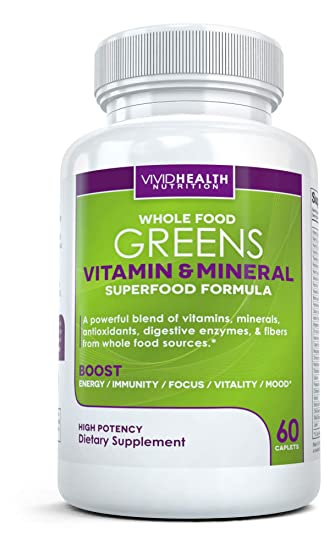 Amazon.com: Whole Alimentos verdes Multivitamin – all ...