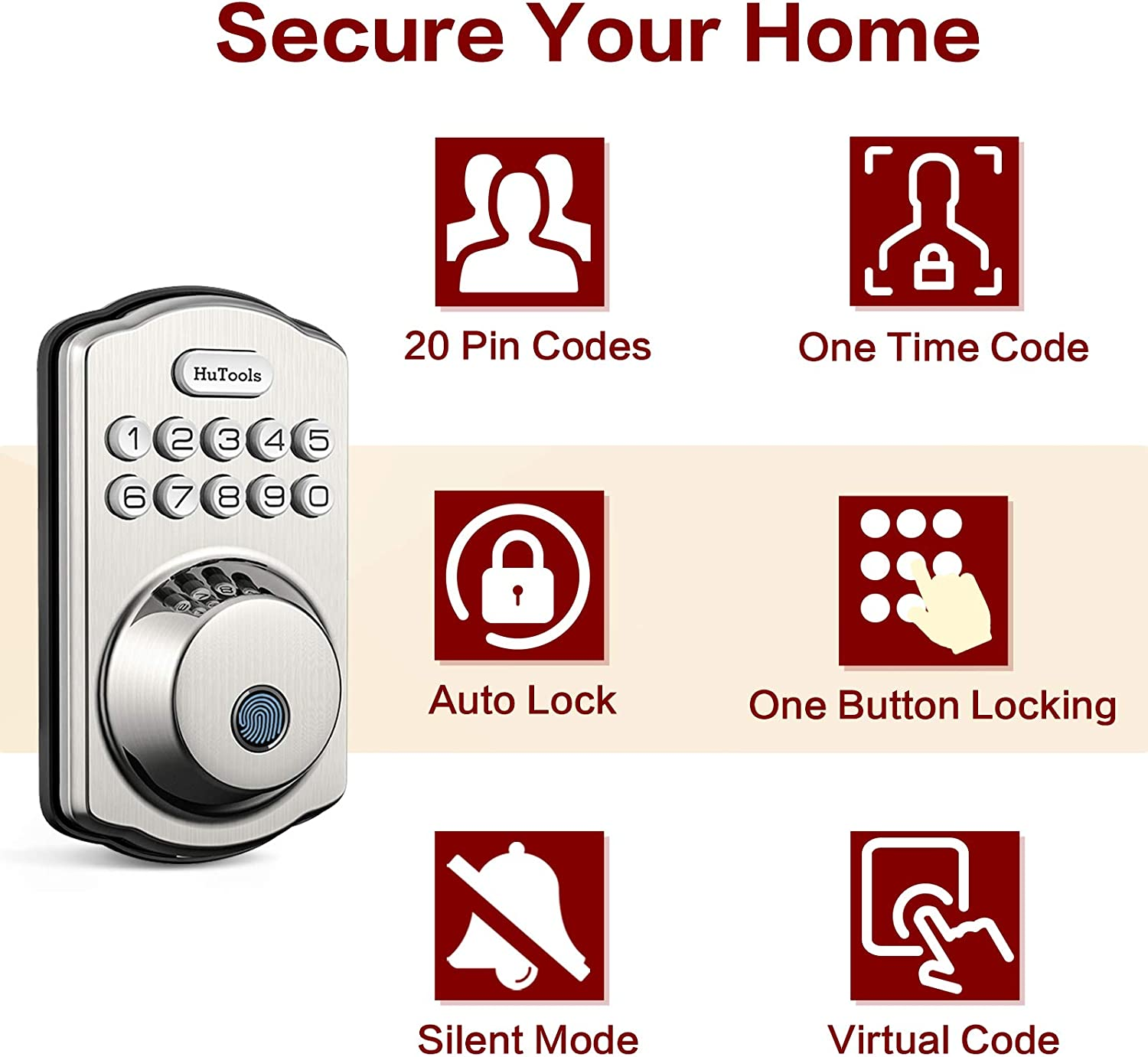 Smart lock with code and finger print reader - Best smart lock for airbnb