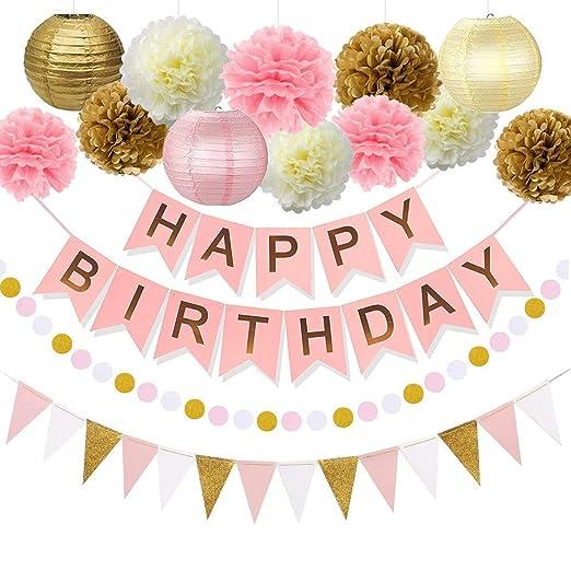 Lillypet - Kit de decoración de fiesta de cumpleaños para ...