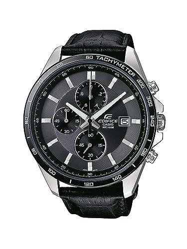 ce2134bf8dca Casio Reloj Analogico para Hombre de Cuarzo con Correa en Cuero  EFR-512L-8AVEF  Amazon.es  Relojes