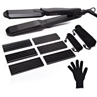 ULG Professional 4-in-1 Dual Voltage Curling and Flat Iron Hair Straightener