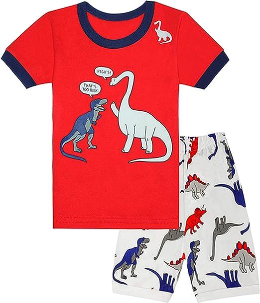 Qtake Fashion - Pijama para niños de 1 a 12 años, 100 % algodón ...
