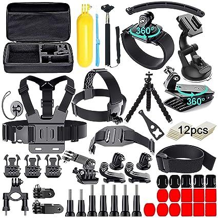 Amazon.com: Kit de accesorios de cámara de acción 61 en 1 ...