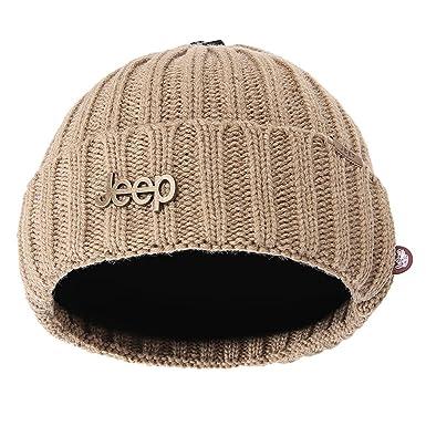 2dfdc64615b Jeep Wolfskin Winter Warm Twisted Knit Fleece Lined Ski Beanie Hat ...