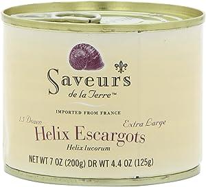 Saveurs Helix Escargot, 1.5 Dozen, Net WT 7 oz(Pack of 3)
