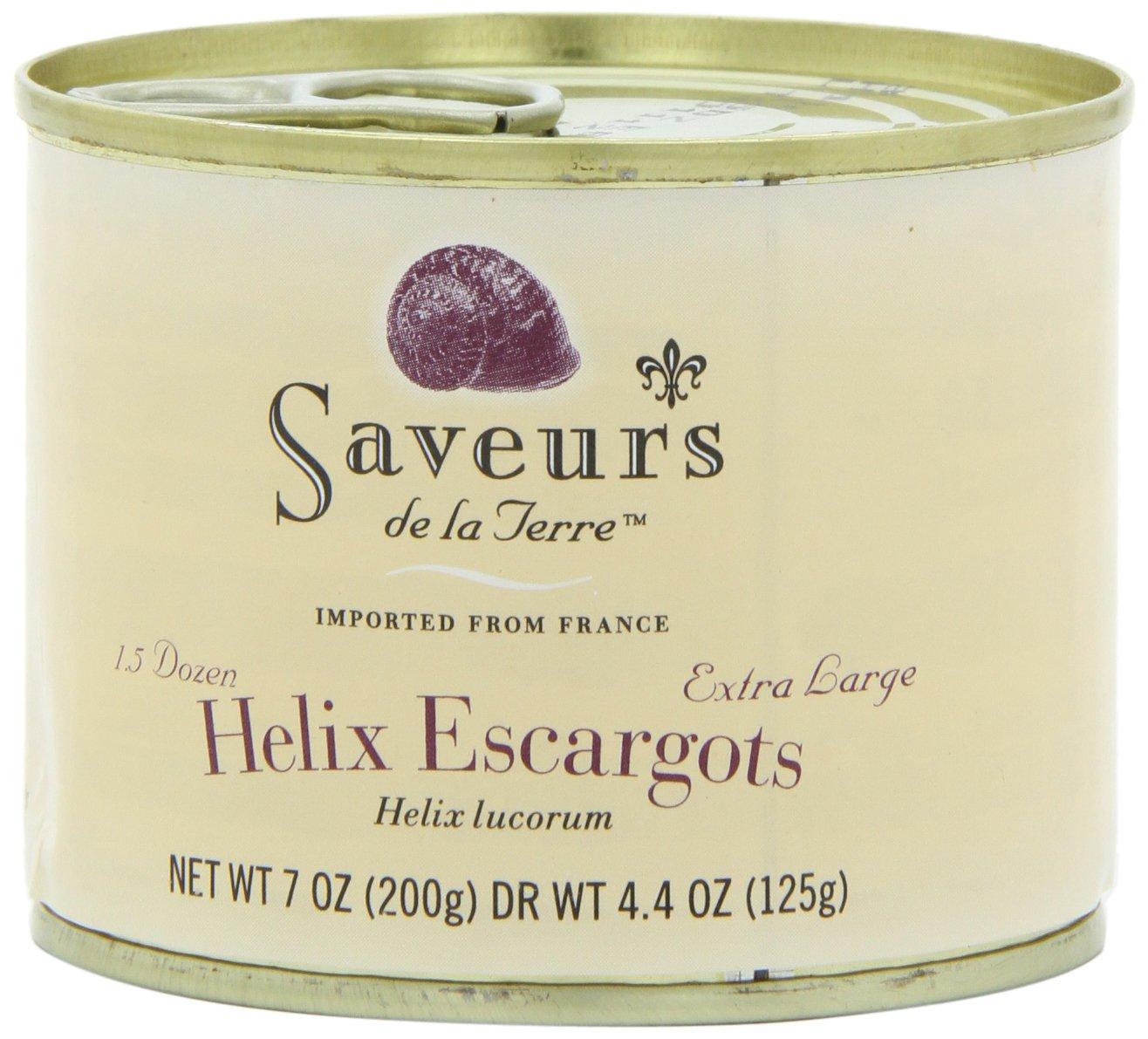 Saveurs Helix Escargot, 1.5 Dozen, Net WT 7 oz(Pack of 3) by Saveurs
