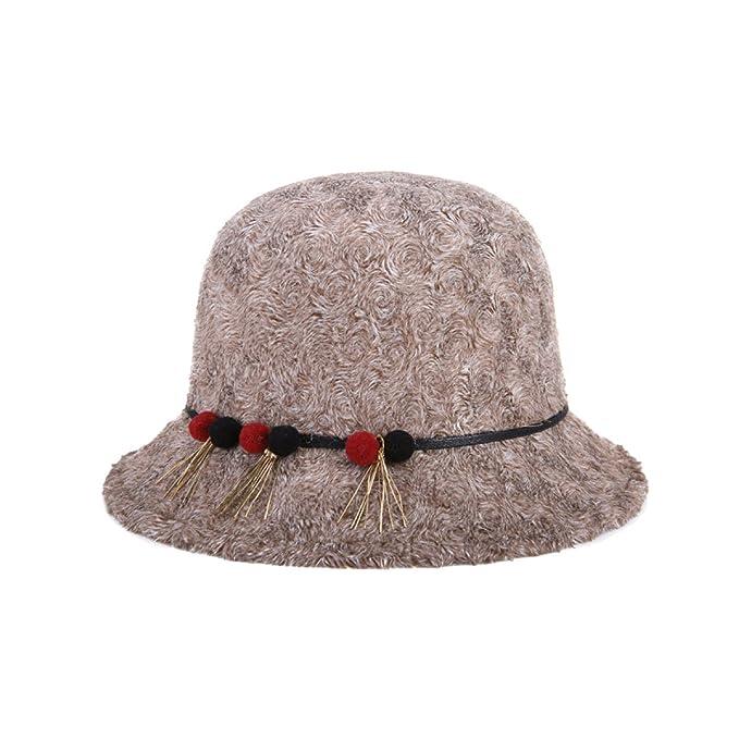 TYGRR Cappello Autunno E Inverno Signore Cappello A Maglia Linea Di Peluche  Cappellino Di Moda Decorazione 101a6fccf049