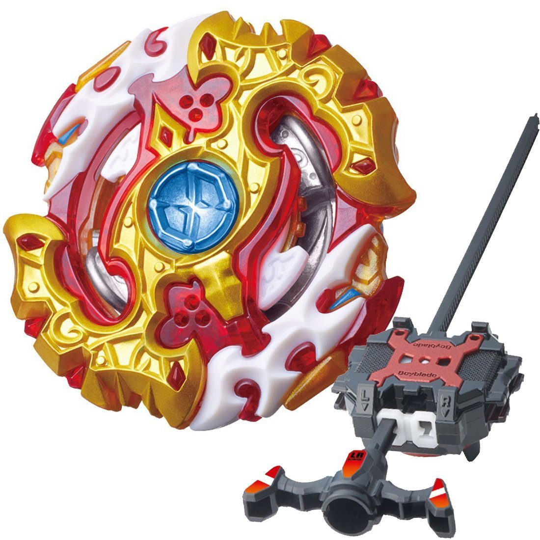 Burst Starter BB-100 Starter Spriggan Requiem.0..Zt With Beyblade Burst Launcher LR Two-Way String Launcher Toy LFtoys