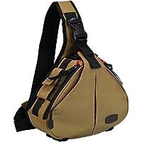 CADeN Camera Bag Sling Backpack Camera Case Waterproof with Rain Cover Tripod Holder, Compatible for DSLR/SLR Mirrorless Cameras (K1 Kakhi)