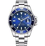 スイスの自動巻きステンレスメンズ腕時計機械式夜光腕時計