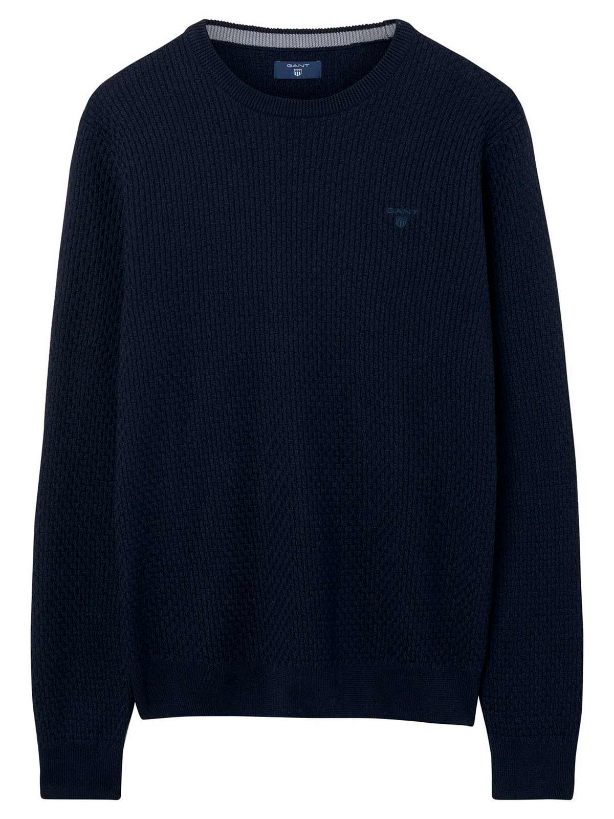 GANT Men's 18018030023433 Blue Cotton Sweatshirt