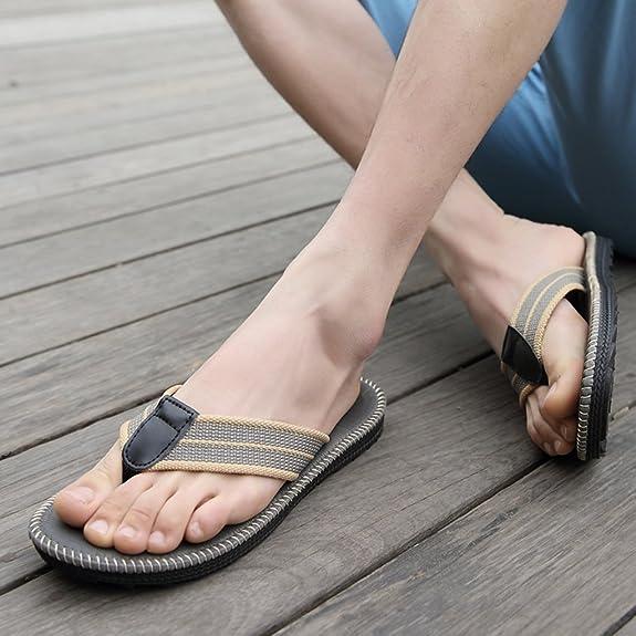 Verano Zapatillas de Gimnasia, Pareja Flip-Flop Men Playa Zapatillas Hombre Zapatillas Cool Estudiantes Zapatillas Clip Antideslizante (Color : E, Tamaño : 24cm)