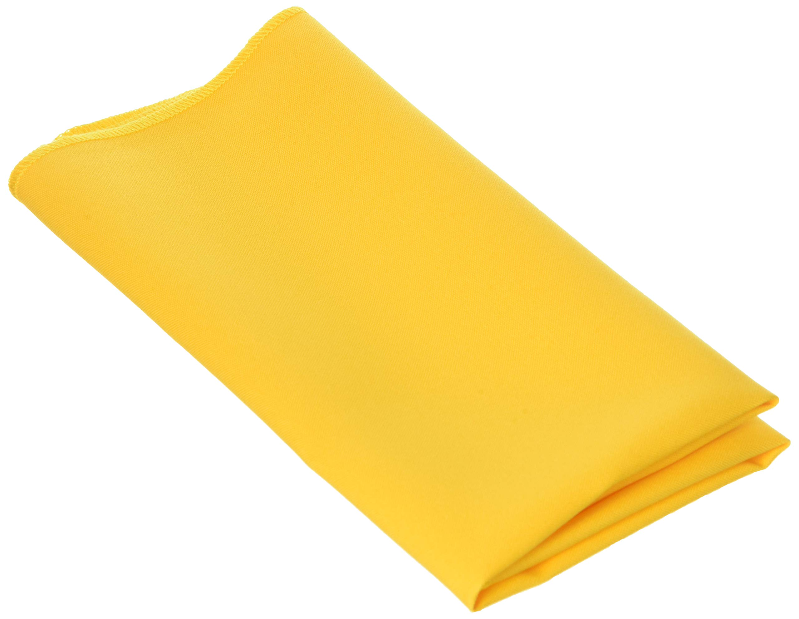 LA Linen 10-Pack Polyester Poplin Napkins 17 by 17-Inch, Yellow